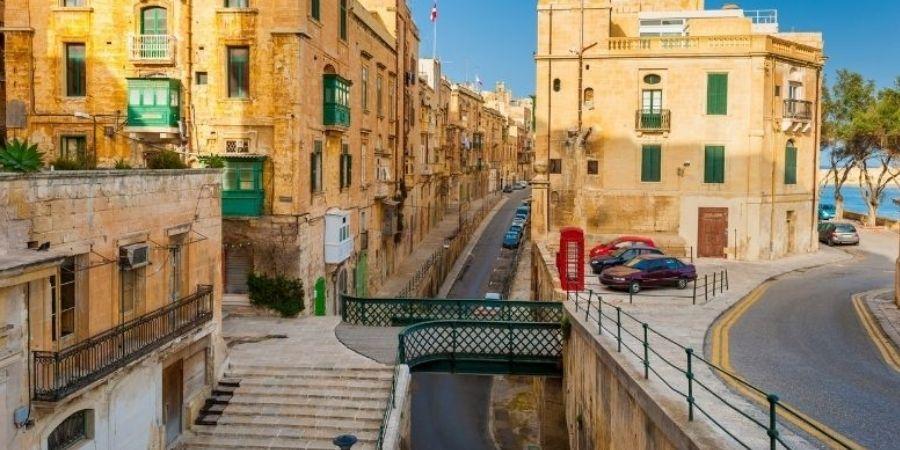 calles de La Valeta donde encuentras las mejores academias de Ingles