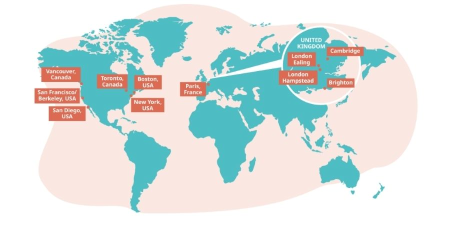 ubicacion de escuelas lsi a nivel mundial